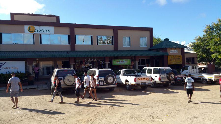 Local shopping centre in Vilanculos.