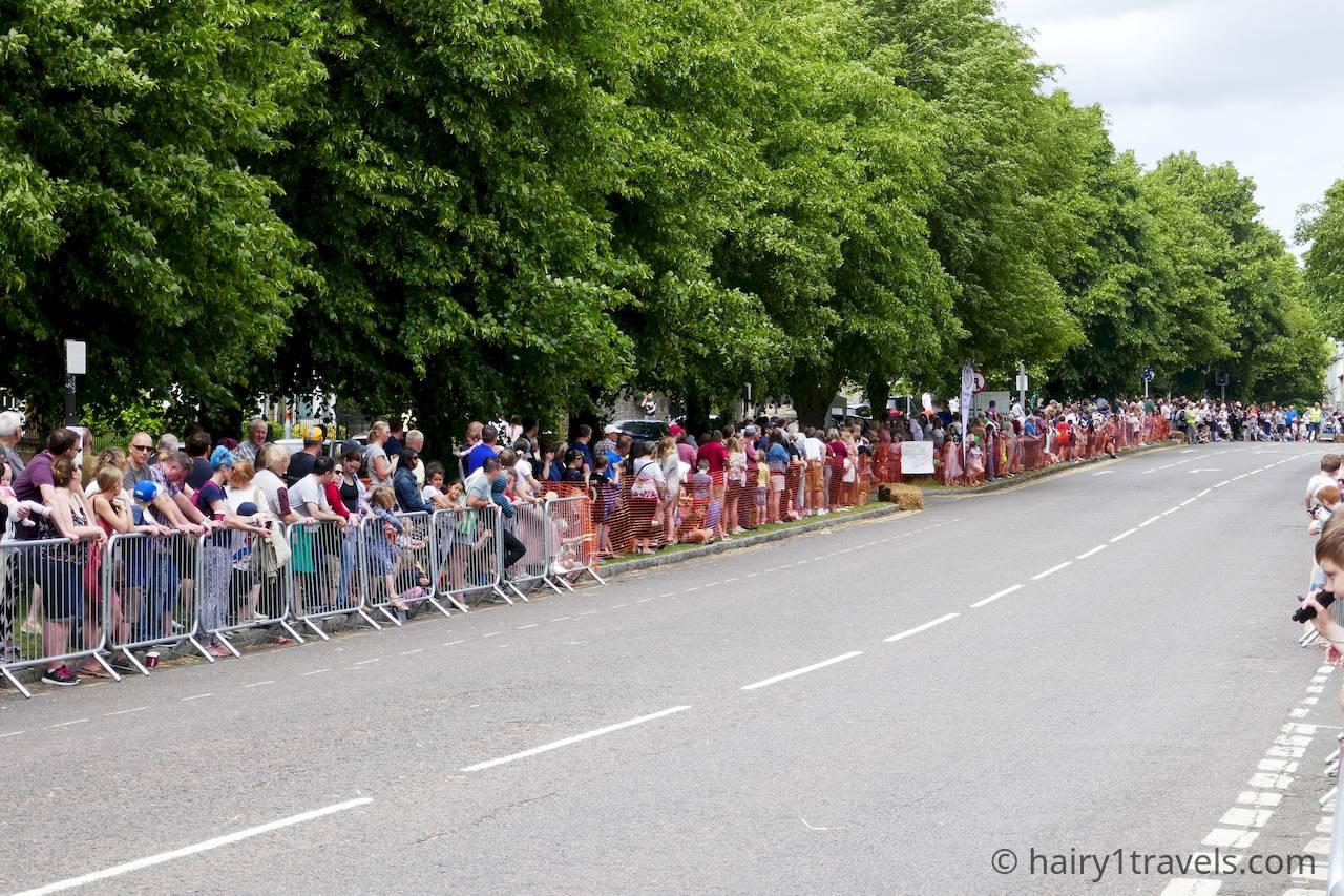 Crowds on Brackley High Street