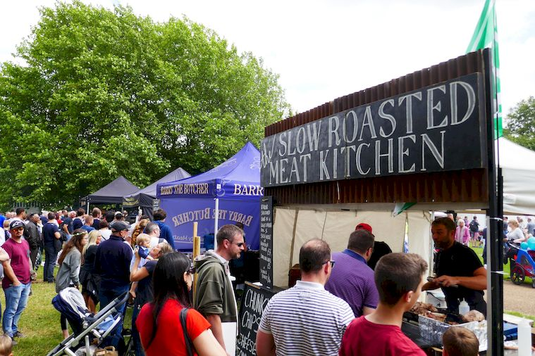 Great Food at the River Festival.