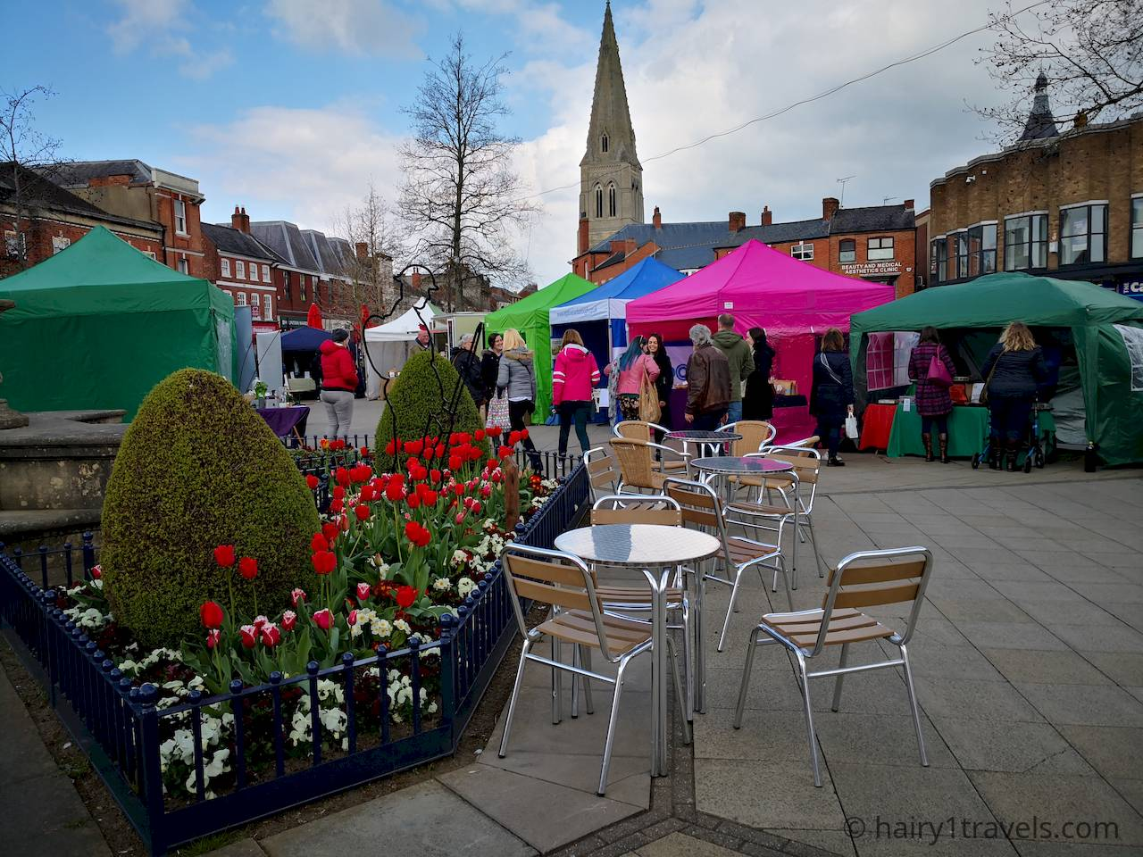A view of the Holistic Harborough Festival in The Square.