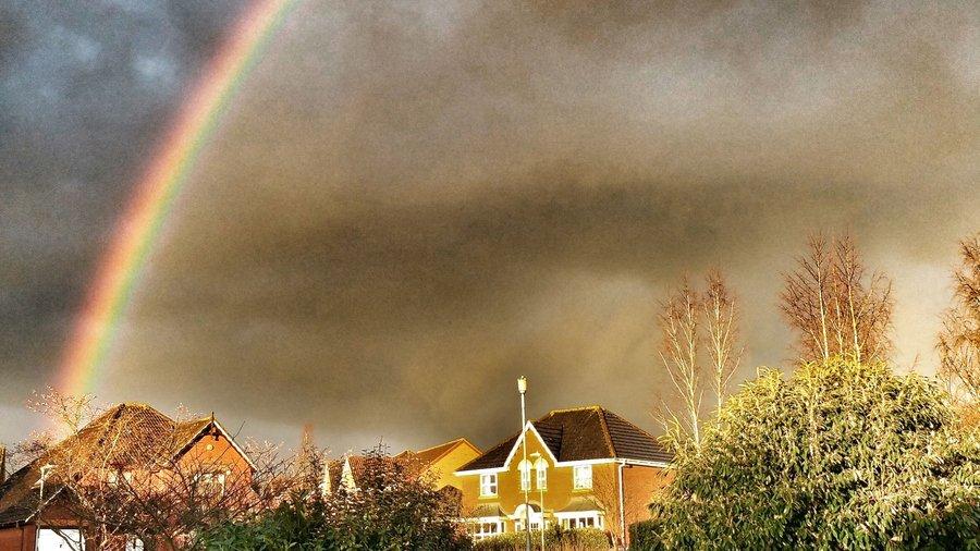 An urban rainbow taken on a mobile phone