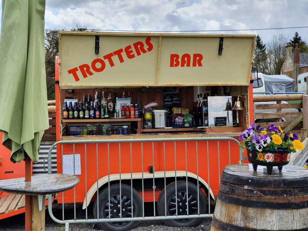 The Trotters Bar at the Pig Place.