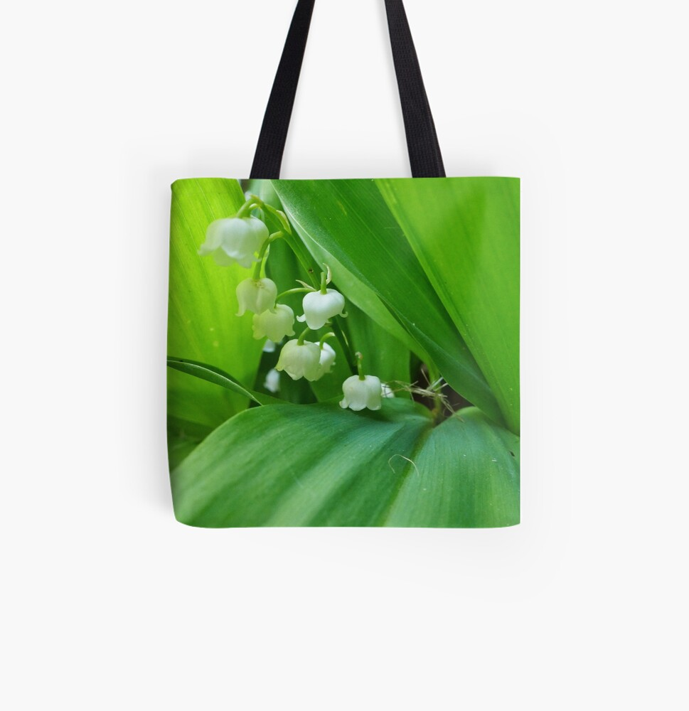 Lily of the Valley flowers tote bag available on Redbubble.