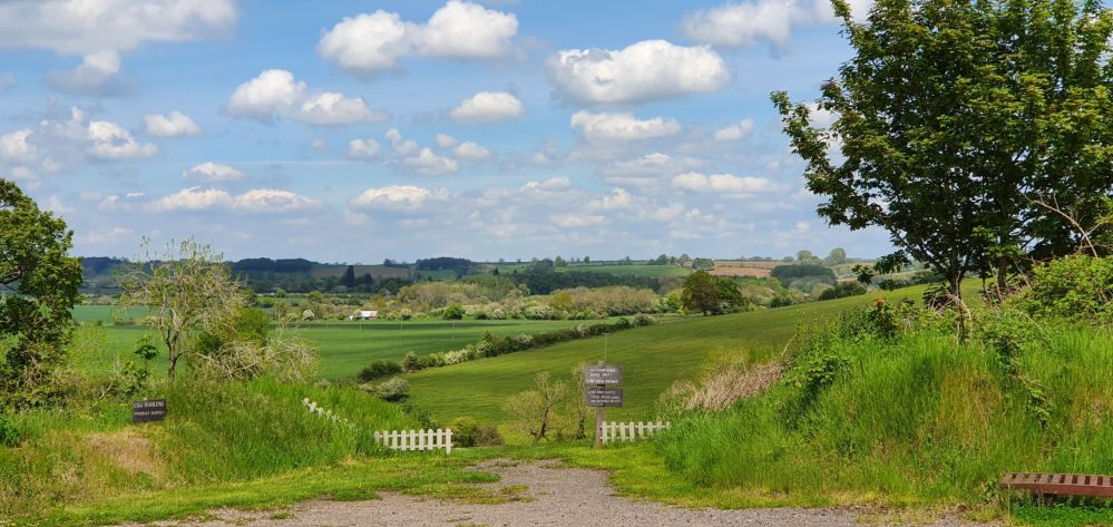 A view over the Northamptonshire countryside.