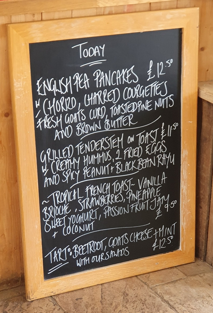 Specials Board at the Milk Shed